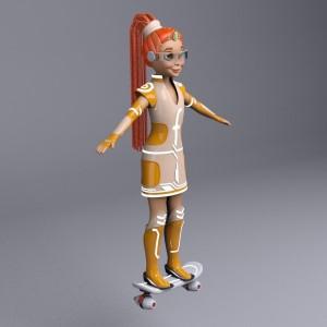 Фрида на скейте 1