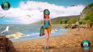 Фрида на пляже